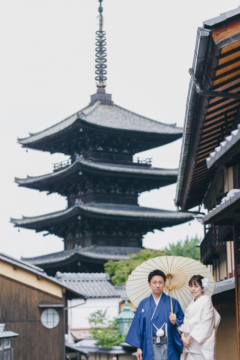 京都東山の和装前撮り