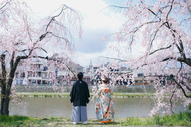 和装桜前撮り