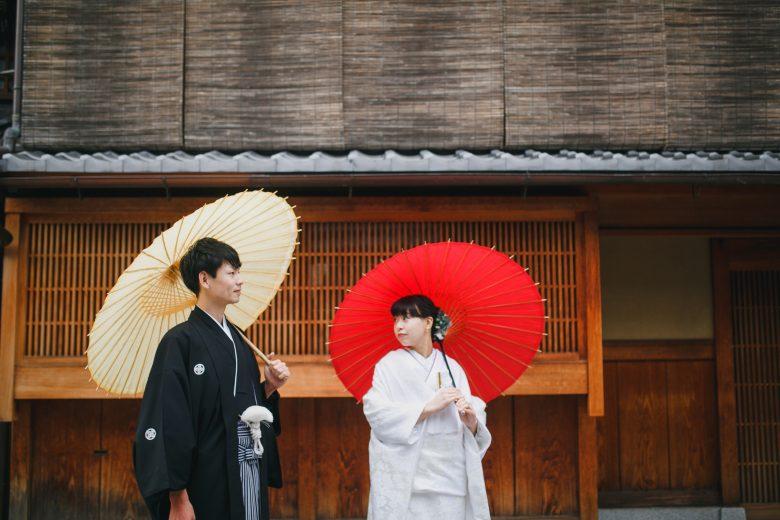 京都の祇園和装前撮り