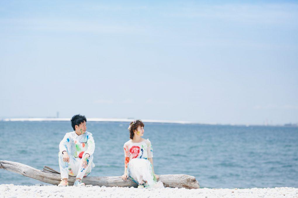 大阪マーブルビーチドレス前撮り