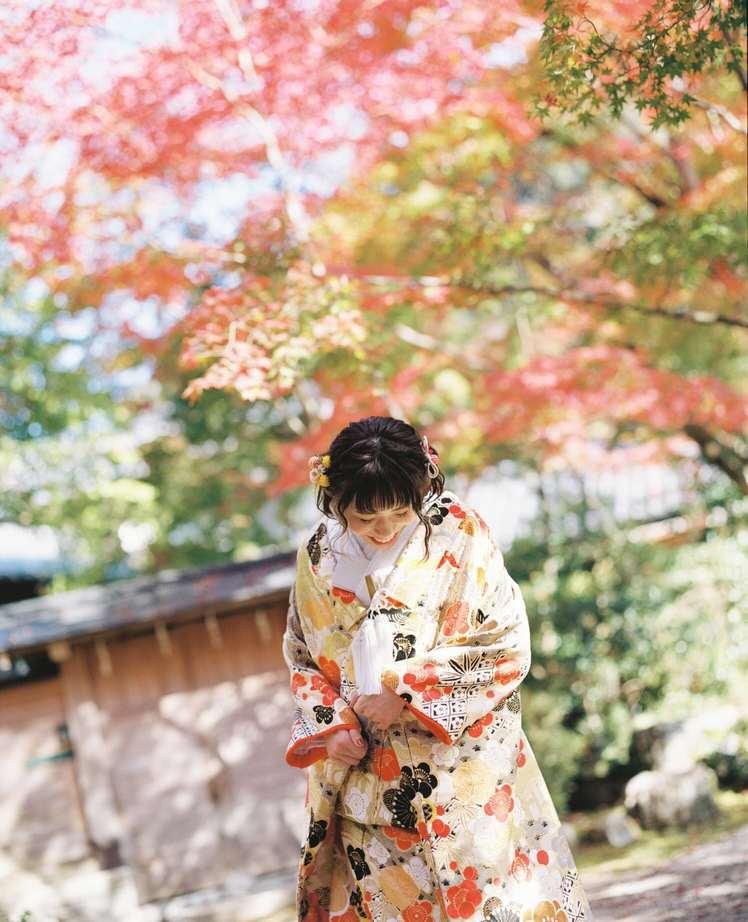 京都紅葉和装前撮り